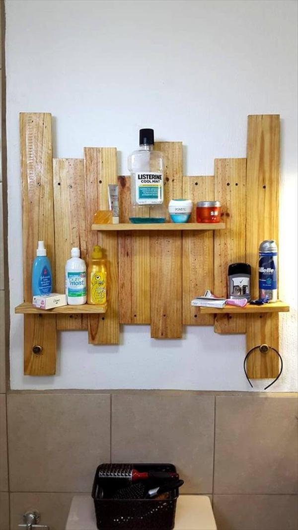 wooden pallet display shelves