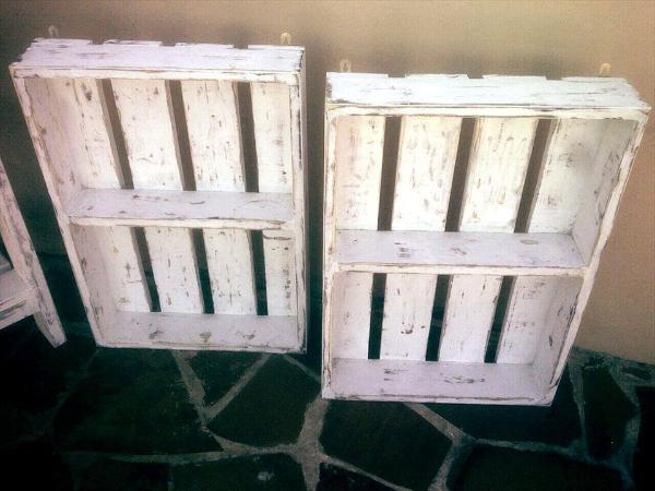pallet made shelves