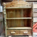 Wooden pallet vintage inspired spice rack