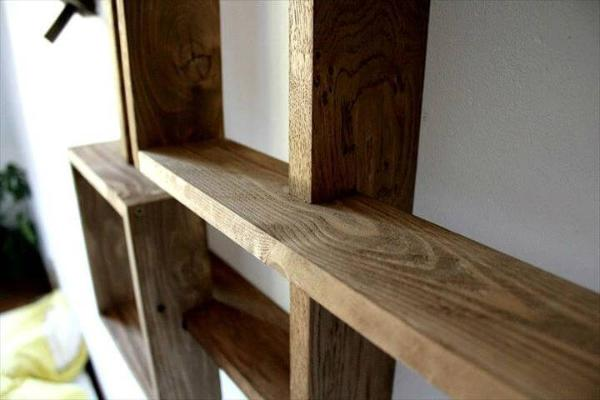 longer lasting wooden pallet wall shelves