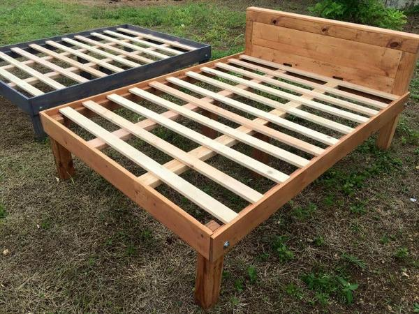 pallet made bed frames