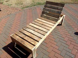 Wooden Pallet Lounger