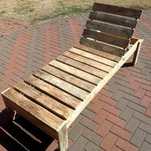 rustic wooden pallet lounger