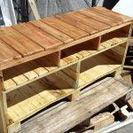 handcrafted wooden pallet TV stand or media console