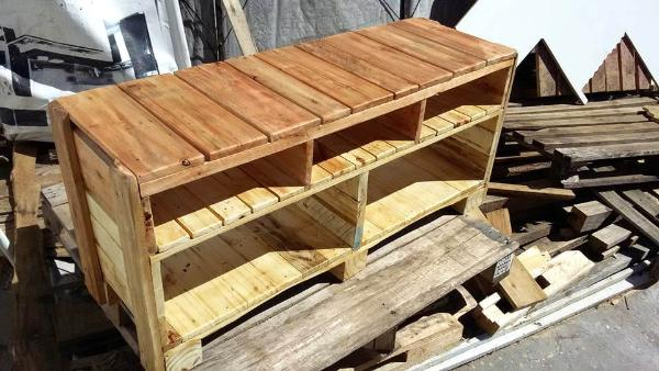 Pallet Tv Stand Part - 31: Handcrafted Wooden Pallet TV Stand Or Media Console