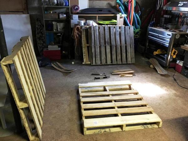 wooden pallet boards