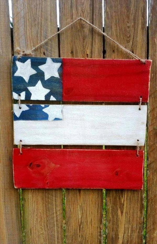 cute pallet flag art