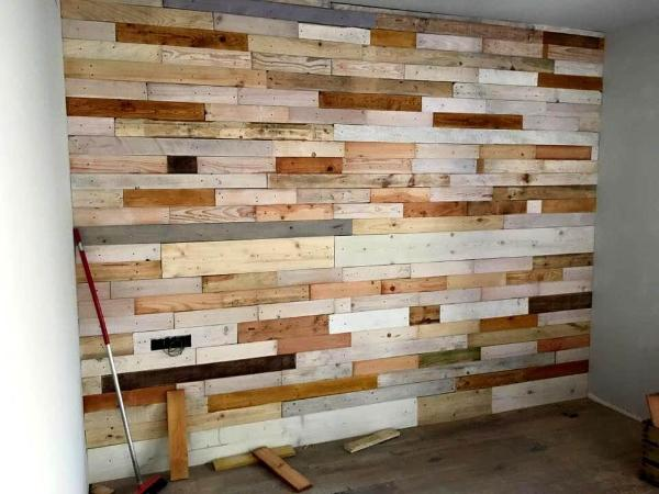 Wooden Kitchen Walling Old