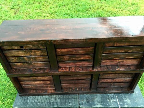 Gorgeous pallet and crate made dresser