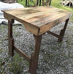 Scorched Pallet Table