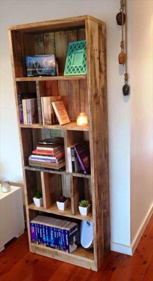 pallet bookcase or display tower