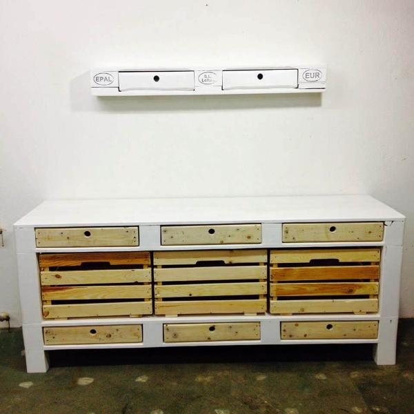 recycled pallet sideboard or chest of drawers