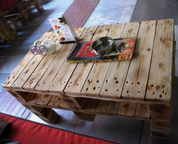beefy wooden pallet coffee table