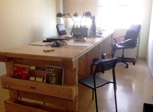 stylish pallet office desk