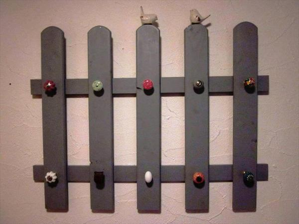 handcrafted wooden pallet wall hanging organizer