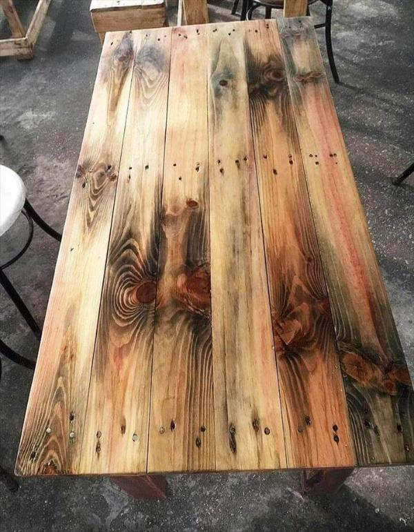 wooden table made of pallets