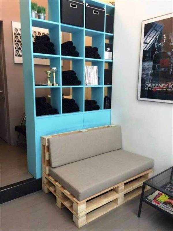 wooden pallet sliding gate with built in compartments