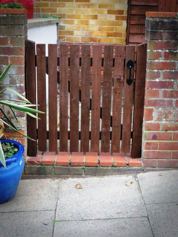 upcycled wooden pallet garden gate