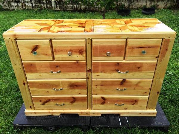 reclaimed pallet chest of drawers