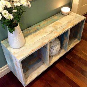 diy pallet crate style storage and display unit