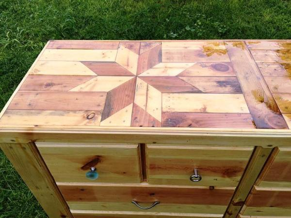 pallet chest of drawers or dresser