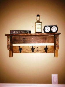 repurposed wooden pallet coat rack