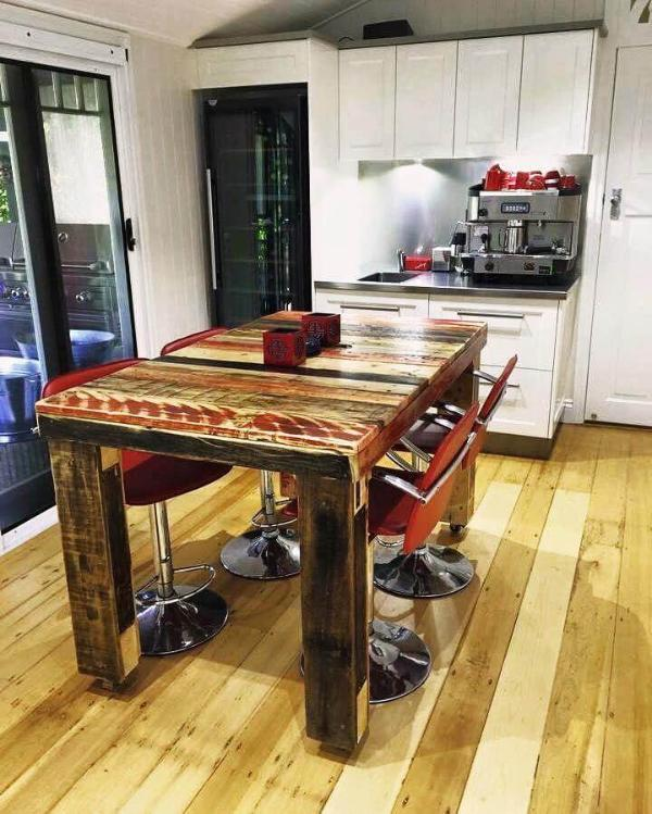 smartly made pallet dining table