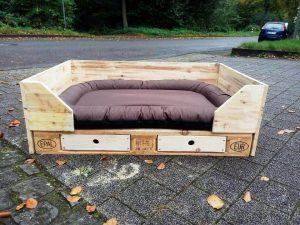 wooden pallet dog bed