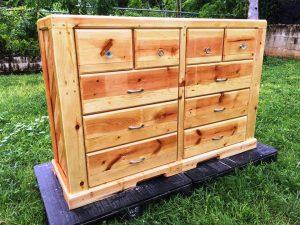 Beautiful Pallet Chest of Drawers with Hardwood